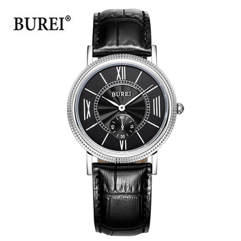 BUREI Watches Men Women Couple Lover's Fashion Casual Ultra Thin Quartz Wristwatches Dress Clock Hours 2020 Reloj Hombre Mujer fashion casual watches men women couple watch leather strap quartz wristwatches fashion lovers watches reloj mujer reloj hombre
