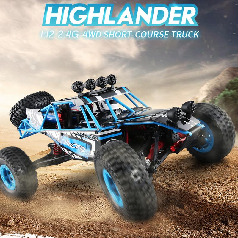 все цены на JJR/C Q39 RC Car 1:12 Electric 2.4G 4WD 40KM/H Highlander Short-course Remote Control Cars Toy Four -wheel Off-Road Vehicle