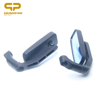 Square Motorcycle Rearview Mirror Modified Retro Aluminum Folding Black Motorbike Bar End Mirror 8mm 10mm Square