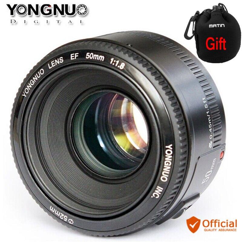 Objectif YONGNUO YN50mm f1.8 AF objectif de caméra à mise au point automatique à ouverture Standard pour Canon EOS 800D 760D 750D 80D 77D 7D 6D 5Ds appareil photo reflex numérique