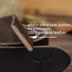 Image 5 - COWATHER 100% جلد البقر أحزمة جلد طبيعي للرجال خمر 2019 تصميم جديد الذكور حزام ceinture أوم 110 130 سنتيمتر الرجال حزام