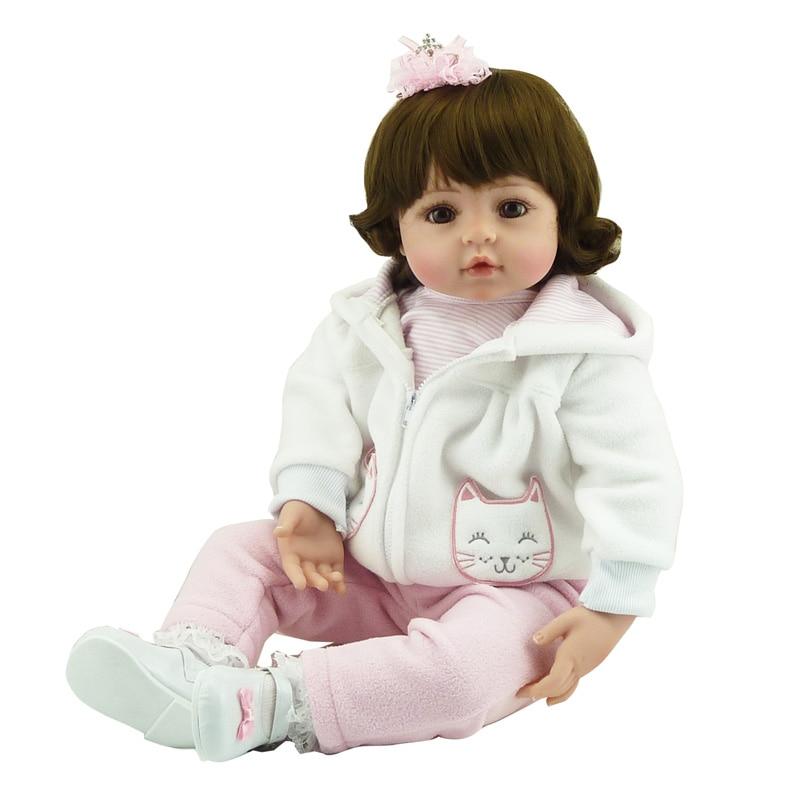 New Cute 55cm Silicone Vinyl Baby  Dolls Adorable Charm Handmade Kids Princess Toys Children Bonecas  Doll  ToyNew Cute 55cm Silicone Vinyl Baby  Dolls Adorable Charm Handmade Kids Princess Toys Children Bonecas  Doll  Toy