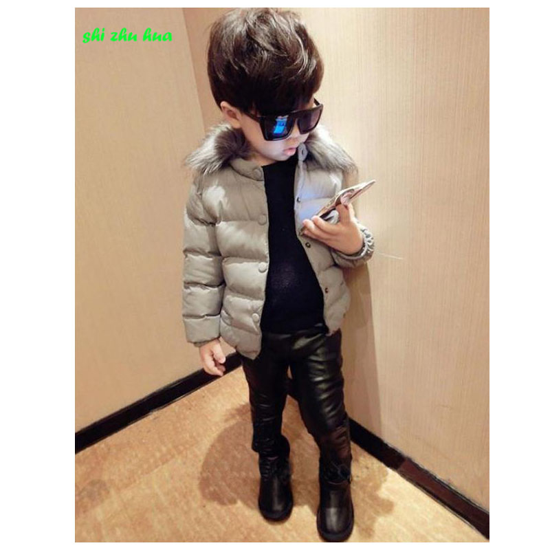 Winter children's warm Cotton coat 2017 fashion new fur collar coat /High-quality / thickening warm 2-7 year old boy Girl 2016 new mori girl high quality sweep lace fur coat