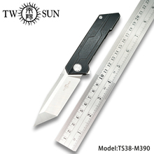 TWOSUN Knives M390 Folding Pocket Knife tactical knife Survival knives camping outdoor TC4 Titanium ball Bearings Fast Open TS38