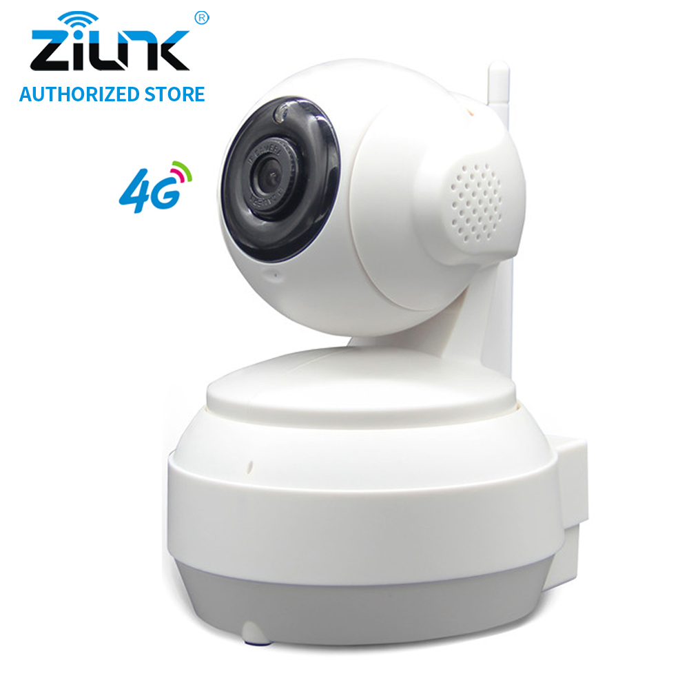 ZILNK 960P 3G/4G SIM Card 1.3Megapixel HD P2P Network PT Wireless IP Camera 2 Way Audio IR Night Vision TF Card Indoor White howell wireless security hd 960p wifi ip camera p2p pan tilt motion detection video baby monitor 2 way audio and ir night vision