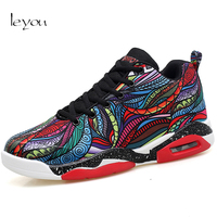 Leyou Men Colorful Sneakers Fashion Brand 2017 Air Cushion Shoes Sport Homme Super Shoes Star Casual Sneaker Shoes Men