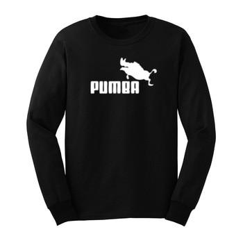 Magliette Grafiche Da Uomo   Mens Pumba Divertente Warthog Graphic Manica Lunga T-Shirt Uomo Casual Tee