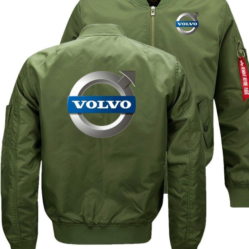 Volvo Для мужчин куртка-бомбер полет Летающий зимняя куртка Сгущает Теплый молнии Для мужчин куртки аниме Для Мужчин's Повседневное пальто ...