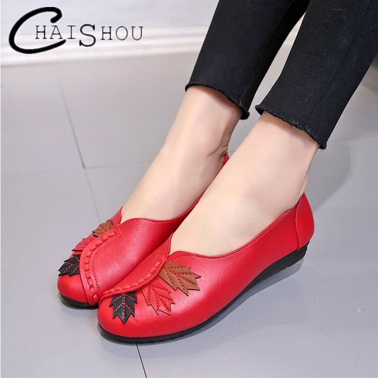2018 Soft Women Shoes Flats Moccasins Slip on Loafers PU Leather Ballet Shoes Fashion Casual Ladies Shoes women Footwear U120 cresfimix zapatos women cute flat shoes lady spring and summer pu leather flats female casual soft comfortable slip on shoes