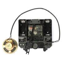 R Silent Movement with Music Chime Box Plastic Quartz mechanism with hands & Pendulum drive units DIY Clock Accessory Kits