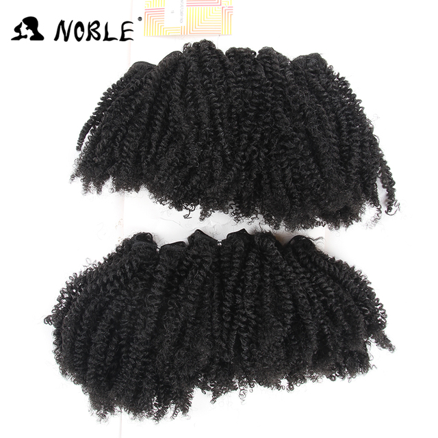 Noble 6pcslot Afro Kinky Curly Hair Bundles 16 18 20 200g