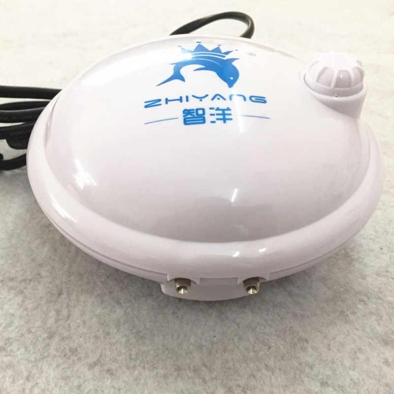 Hoge Qualtiy Aquarium Ronde Luchtpomp Luchtcompressor Toename Zuurstof Luchtpomp Enkele & Dubbele Outlet 220-240V Verstelbare volume