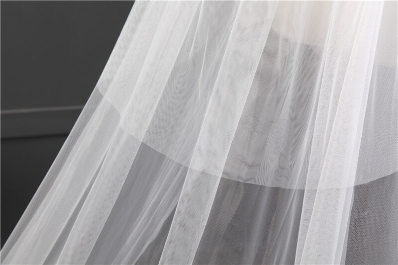 2017 New Design Wedding Veil 3 Meters Long Applique Lace Bridal Veils With Comb One-layer Ivory White Bride Wedding Accessories