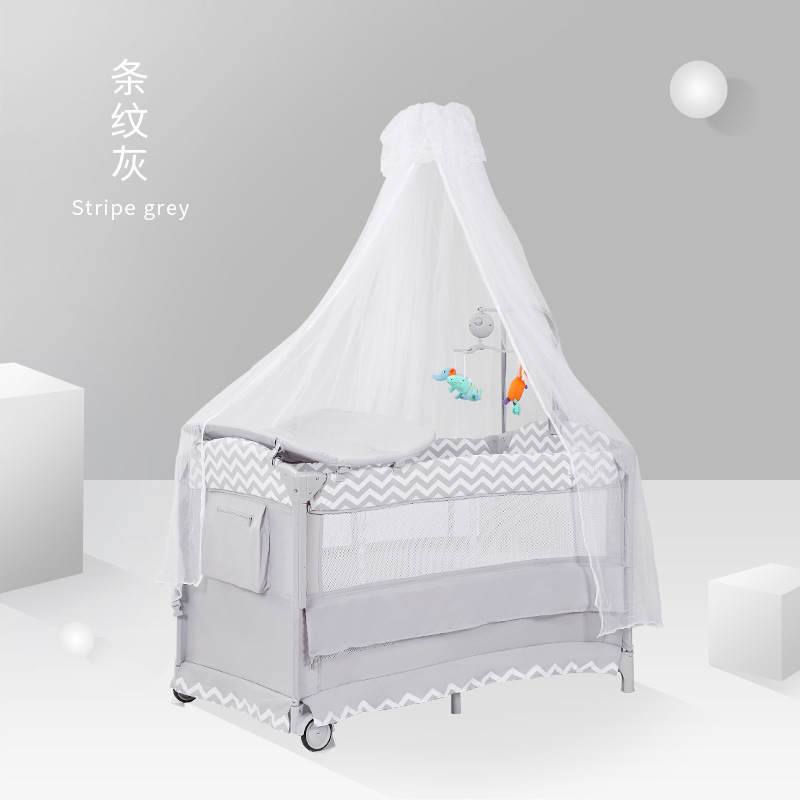 Fat Shipping ! Baby Cribs Multifunctional Infant Bed Nets Game Wheel Bed Crib
