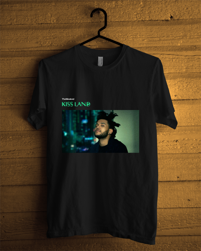 The Weeknd Kiss Land Black T-shirt Custom Size S-3XL Printed T Shirt Men Cotton T-Shirt New Style Print Men Brand Clothing