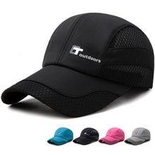 ce09697dee0 Men Women New Mesh Cap Solid Color Fashion Multi function Adjustable Sports Sun  Visor Hat Unisex fishing Baseball Snapback Hat