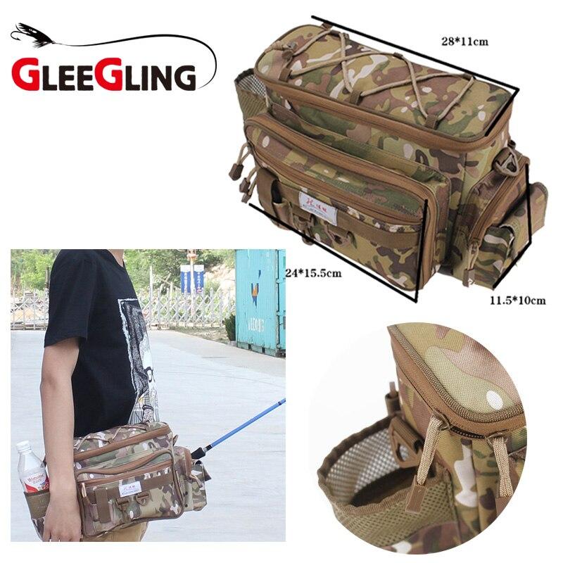 Sac de pêche Portable sac de pêche Canvan sac de taille de bobine de poisson sac de rangement de leurre de pêche sac de matériel de Camping