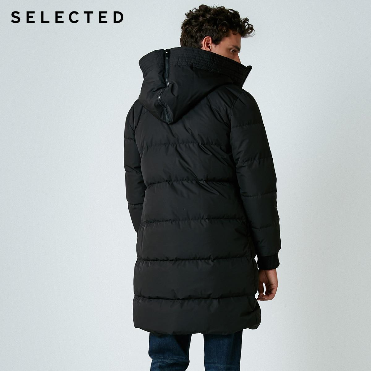 SELECTED nouveau hiver doudoune hommes fermeture éclair et chapeau décontracté moyen et Long manteau costume S   418412503 - 3