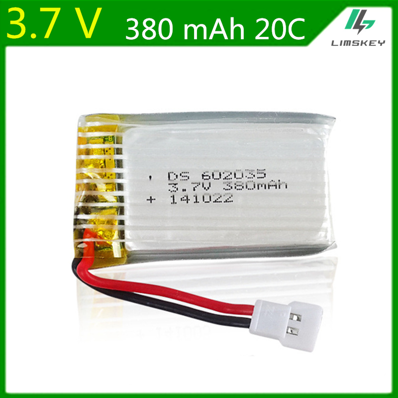 3.7 V 380 mAh batería para Hubsan X4 H107 Venus alcanzó 385 difeida DFD F180 F47 F48 Lipo batería 602035 20C