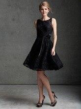 Kleider Für Prom Real New Ankunft A-linie U-ausschnitt Spitze Kleid Kleid 2016 Sleeveless Vestidos Cocktail Homecoming Schärpe F1985