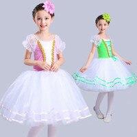 New Kids Professional Tutu Ballet Dress Long Tulle Ballerina Costumes Girls Modern Dance Children Royal Princess
