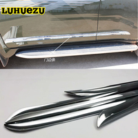 4PCS For Toyota Land Cruiser Prado FJ 150 Accessories Chrome Door Side Moulding Trim Strip For