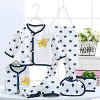 Autumn Newborn Clothing Sets 7pces Set Baby Children Clothes Baby Boys Girls Clothes Set Cotton Print
