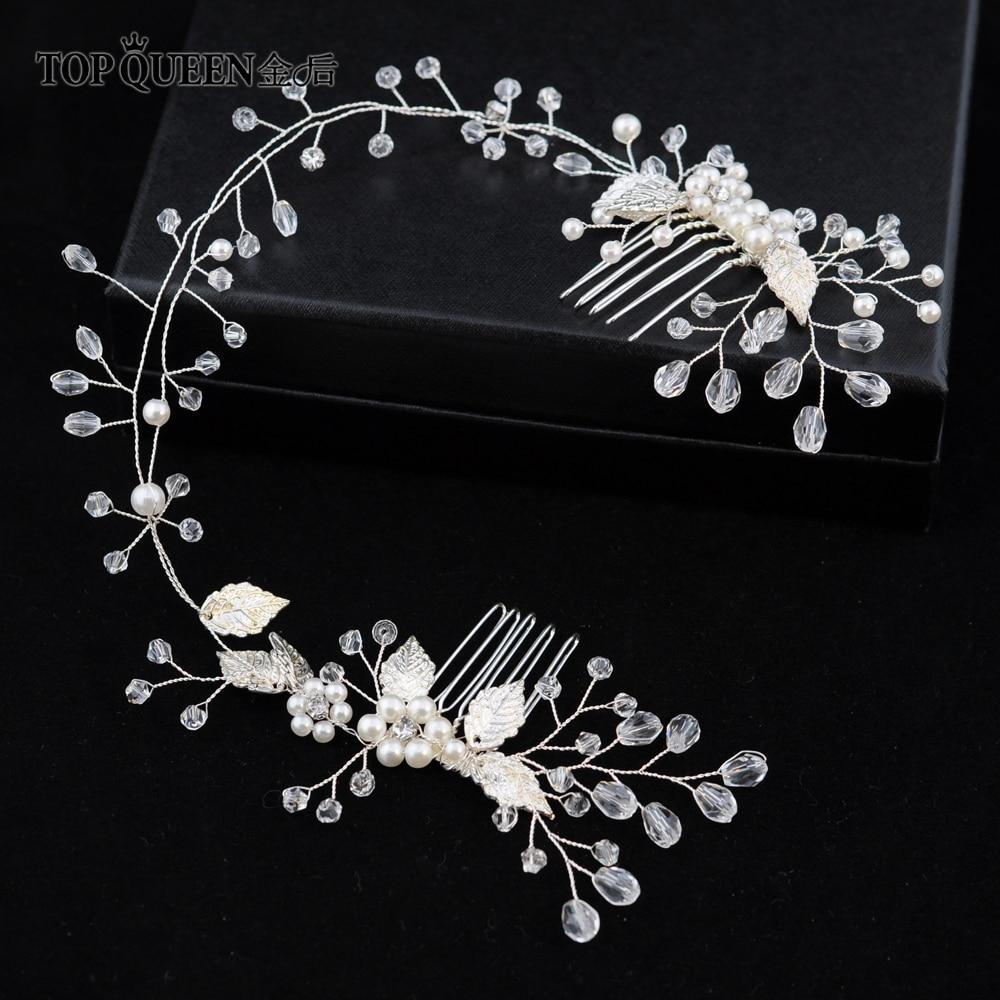 TOPQUEEN HP27 Wedding Hair Comb Wedding Tiara Bridal Combs Wedding Headwear Wedding Hair Accessories Bridal Headdress