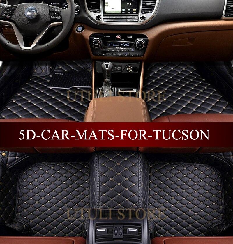 car floor mats for hyundai ix35 elantra santa fe sonata tucson 2016 solaris accent 3d custom fit. Black Bedroom Furniture Sets. Home Design Ideas