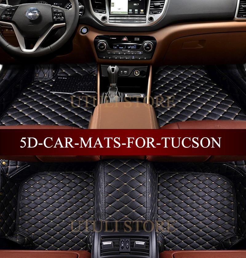 Tapetes de cuero para el auto para Hyundai Elantra Santa Fe Sonata - Accesorios de interior de coche - foto 1