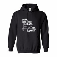 Leopard HoodieFunny Math Gifts Sometimes I Go Off On A Tangent Math Geek Gifts STEM Engineer
