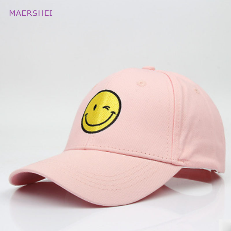 MAERSHEI Sanpback hat Embroidery Smiley face   Baseball     Cap   Travel Leisure   Cap   Trend Men and Women Trucker Hat
