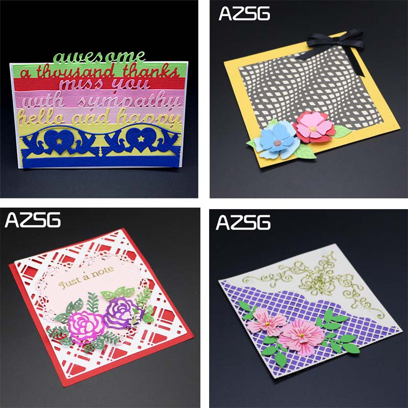 DIY Rectangular and Round Design Cutting Mold Mould Embossed Card Scrap Decoration Metal Crafts.