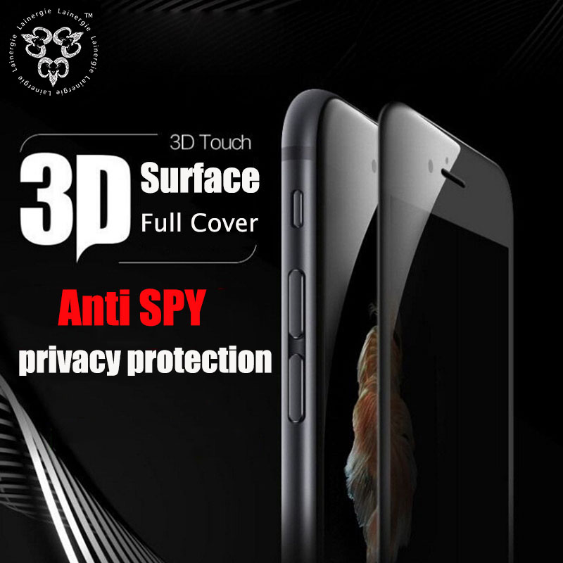Screen Peep Proof 3D Curved Full Cover Tempered Glass Screen Protector For iPhone 7 Plus Protection Film Anti Spy Privacy