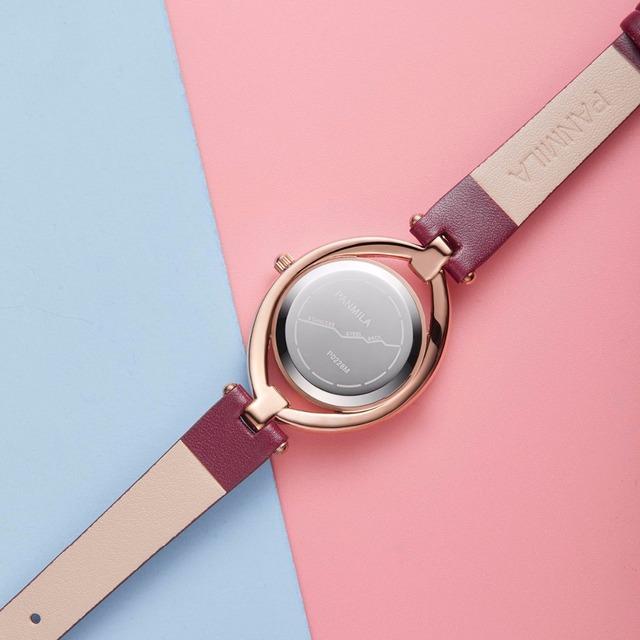 Luxury Rhinestone Dial Women Watches Ladies Classes Red Leather Dress Watch New Design Female Quartz Wristwatch Reloj Mujer