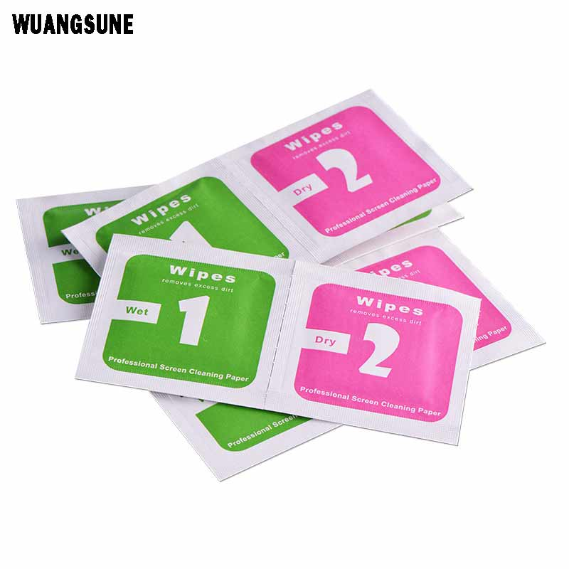 Tempered Glass Camera Lens Phone Screen Dust Removal Dry Wet Cleaning Wipes Paper tools Set alcohol pack for iPhone 5 6 7