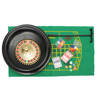 Entertainment Bar Game Toys Roulette Wheel Casino Board Game Set Metal Case Gift Toys For Party