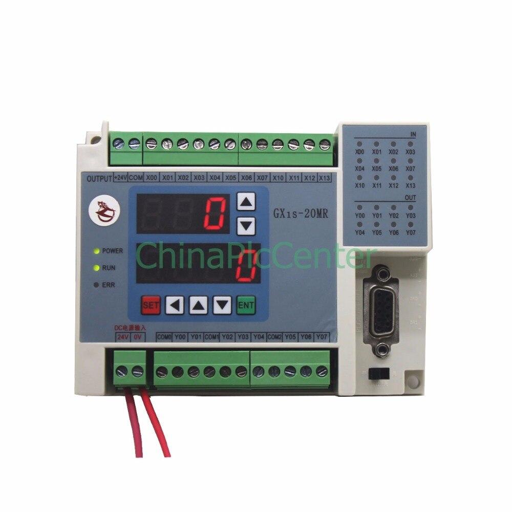 FX1S GX1S 20MR 12in 8 relays out RTC (real time clock)  controller 2AD 2DA high-brightness LED digital tube display dmx512 digital display 24ch dmx address controller dc5v 24v each ch max 3a 8 groups rgb controller