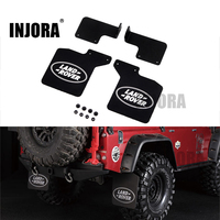 INJORA 2Pcs TRX4 Rear Mud Flaps Rubber Fender With Logo For 1 10 RC Crawler Traxxas