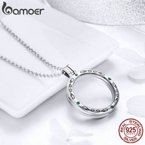 Image 4 - BAMOER 100% Authentic 925 Sterling Silver Mystery Power Box Petite Floating Locket Necklaces for Women Silver Jewelry SCF002