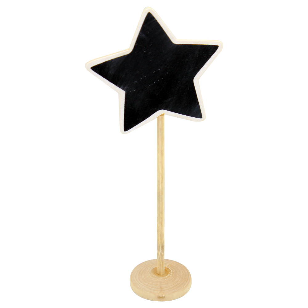 10pcs Star Shape Shape Mini Blackboard Stick Stand Place Holder Chalkboard Table Number Sign Wedding Party Decor