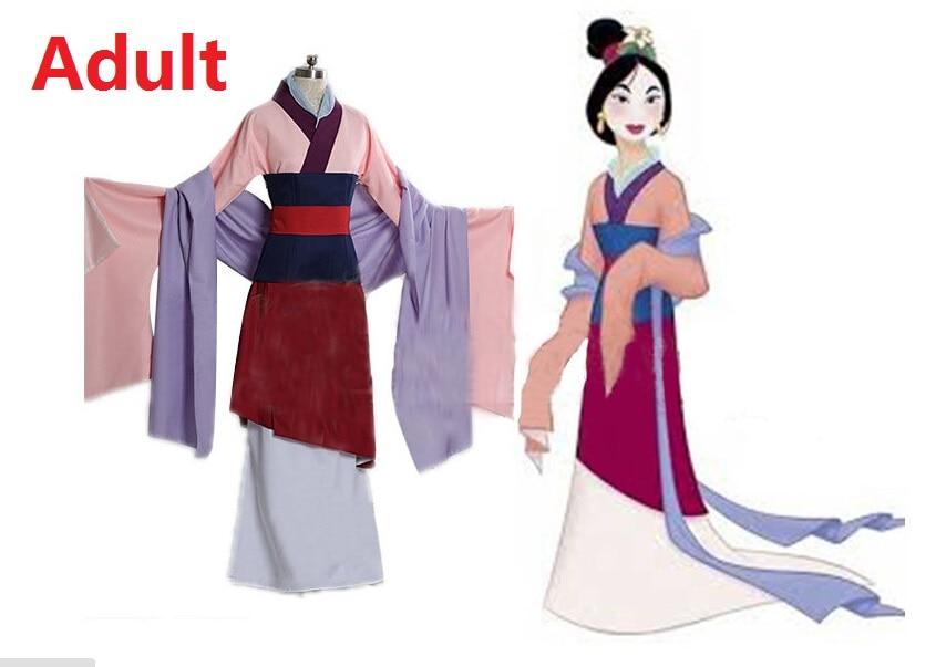 67dffdd3fc90a Adulto hua mulan cosplay disfraz traje da princesa mulheres trajes ...