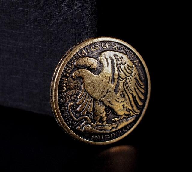 Américain Coin Demi Liberté 10x Dollar En Rétro Laiton Marche Aigle pwxUqtOR