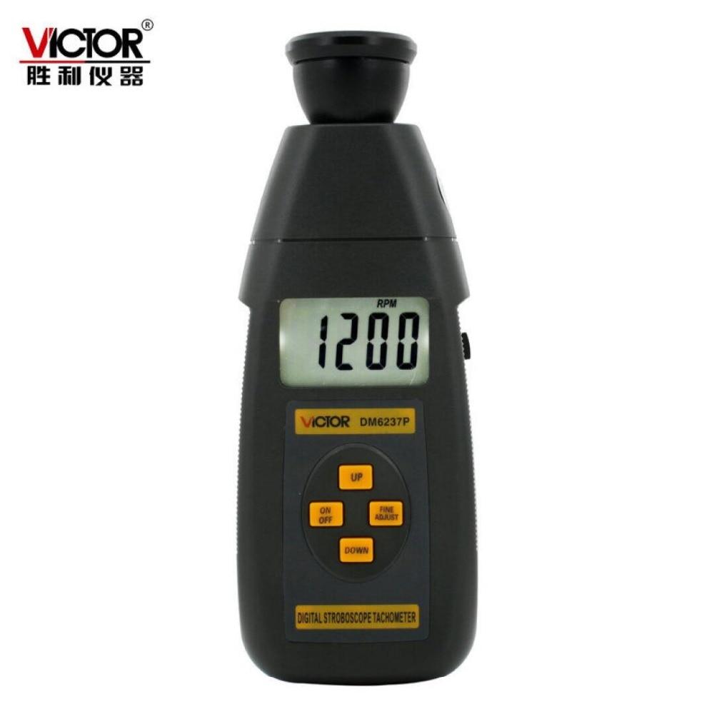 ФОТО DM6237P Digital Stroboscope Tachometer range :60 to 19999RPM  digital flash frequency tools ,High precision tachometer