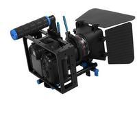 2 в 1 DSLR Rig комплект Матовая коробка DSLR клетка с верхней ручки и 15 мм Алюминий Стержень блока плиты для Зеркальные фотокамеры и видео Видеокам