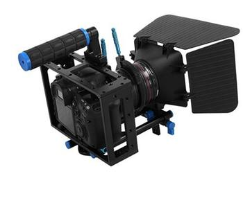2 In 1 DSLR Rig Kit  Matte Box DSLR Cage with Top Handle&15mm Aluminum Rod Block Plate for DSLR Cameras and Video Camcorders