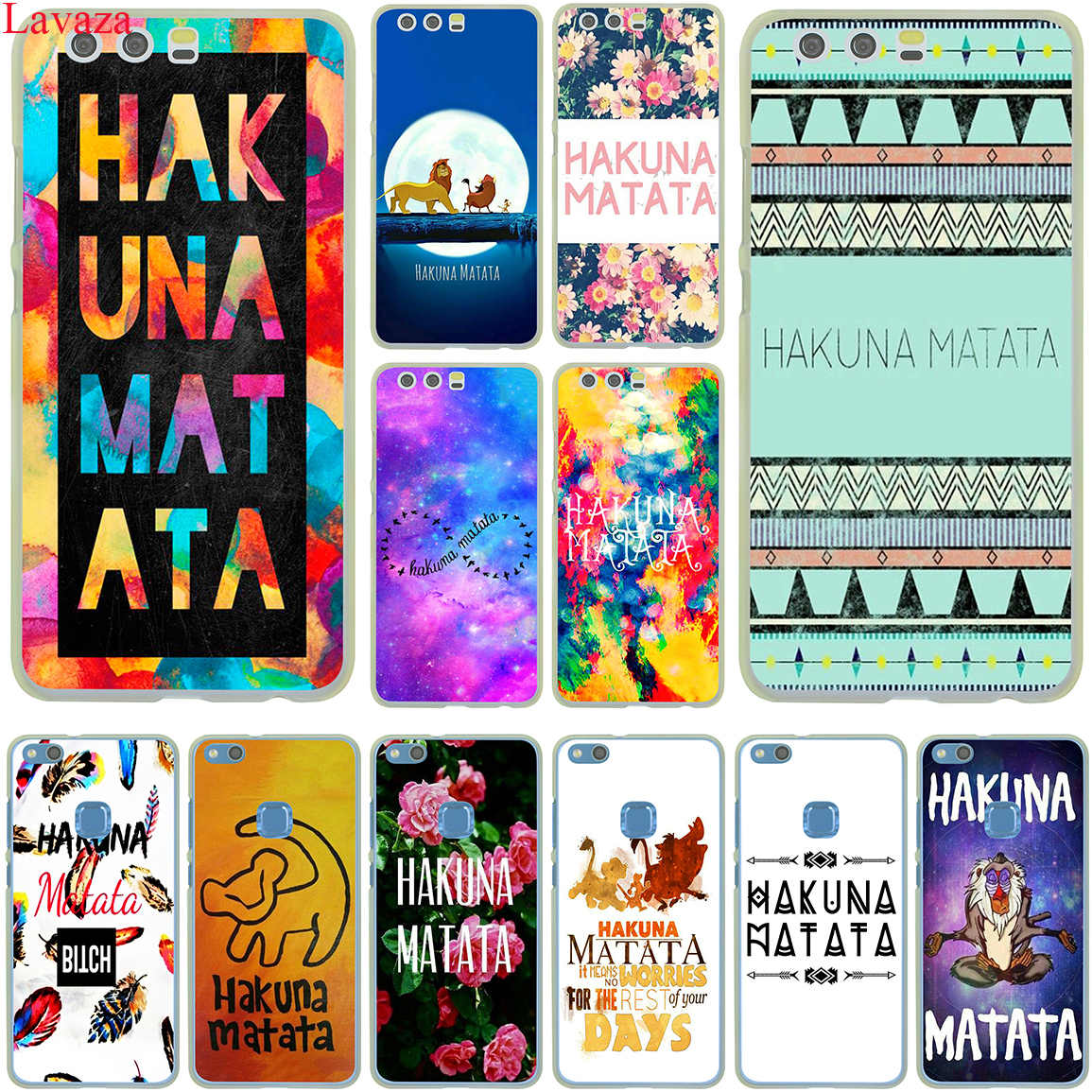 Lavaza hakuna matata The Lion King Case for Huawei P30 P20 P10 P9 Plus P8 Lite Mini 2017 2016 2015 P smart Z 2019