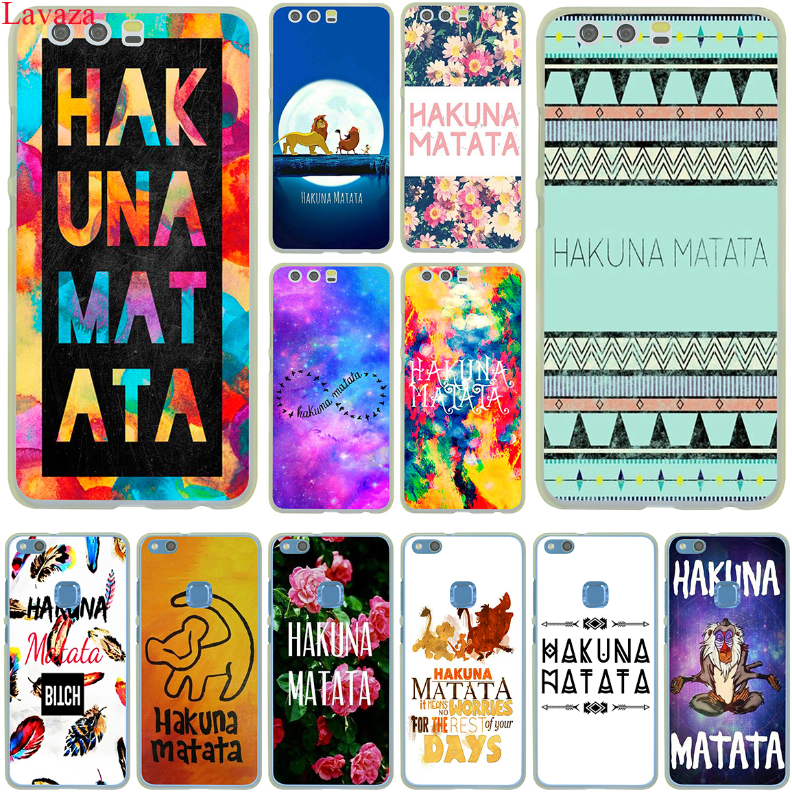 Lavaza <font><b>hakuna</b></font> <font><b>matata</b></font> The <font><b>Lion</b></font> <font><b>King</b></font> Case for Huawei P30 P20 P10 P9 Plus P8 Lite Mini 2017 2016 2015 P smart Z 2019 image