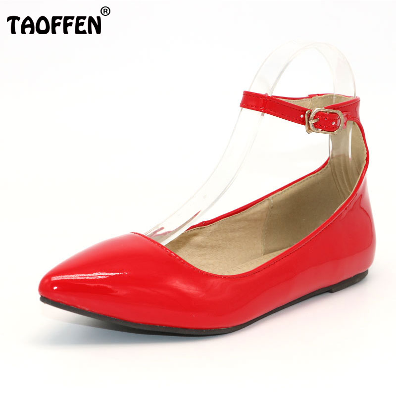 TAOFFEN free shipping flat casual sexy shoes women sexy footwear fashion lady P11970  hot sale EUR size 32-43 free shipping candy color women garden shoes breathable women beach shoes hsa21