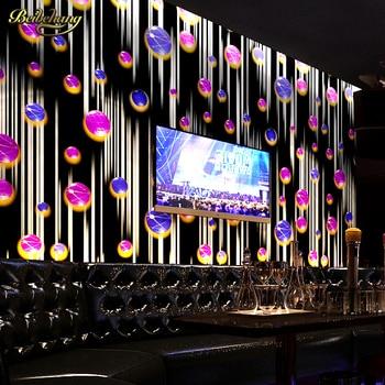 beibehang Ball streaks flash wall paper KTV PVC Wallpaper 3D Bar Background Wall Decor papel de parede Roll Black